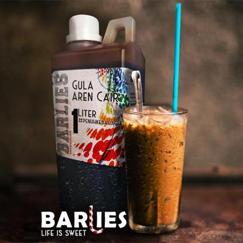 Gula Aren Cair Premium 1 Liter Merk BARLIES. 100% Gula Aren Murni
